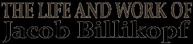 The Life, Work, and Writings of Jacob Billikopf